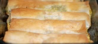 Griechische Käserollen