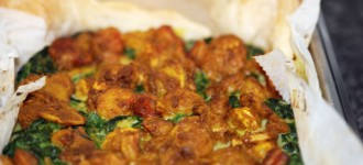 Spinat-Shrims-Quiche