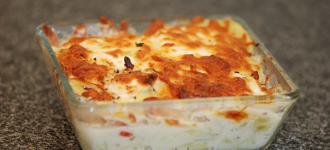 Kartoffelauflauf mit Mozarella