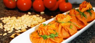 Tomaten-Crêpes-Säckchen