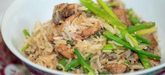 gebratener-Reis-mit-Hähnchenbrust