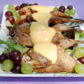 gebratene-Wachteln-auf-Salat-mit-Estragon-Sauce