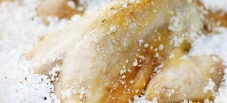 Perlhuhn-in-Salzkruste