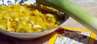 Lauch-Safran-Gemüse