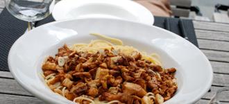 Spaghetti-mit-Pfifferlingen