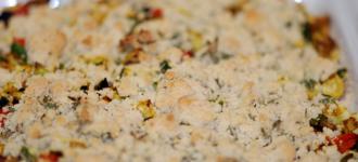 Parmesan-Crumble-Auflauf
