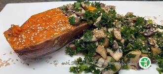 Grünkohl-mit-Pilzen